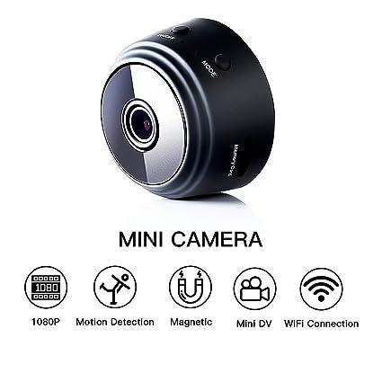 Fekkii Mini microcámaras espia 1080P HD WiFi IP Inalámbrico Movimiento Botón Oculto Cámara Detección Cámara de