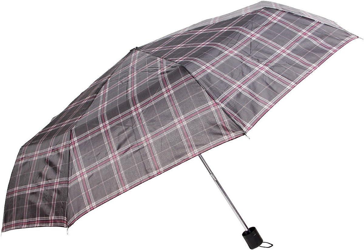 Alsino Dots Regenschirm Mini kariert aus Polyester Taschenschirm Durchmesser 87 cm mit H/ülle