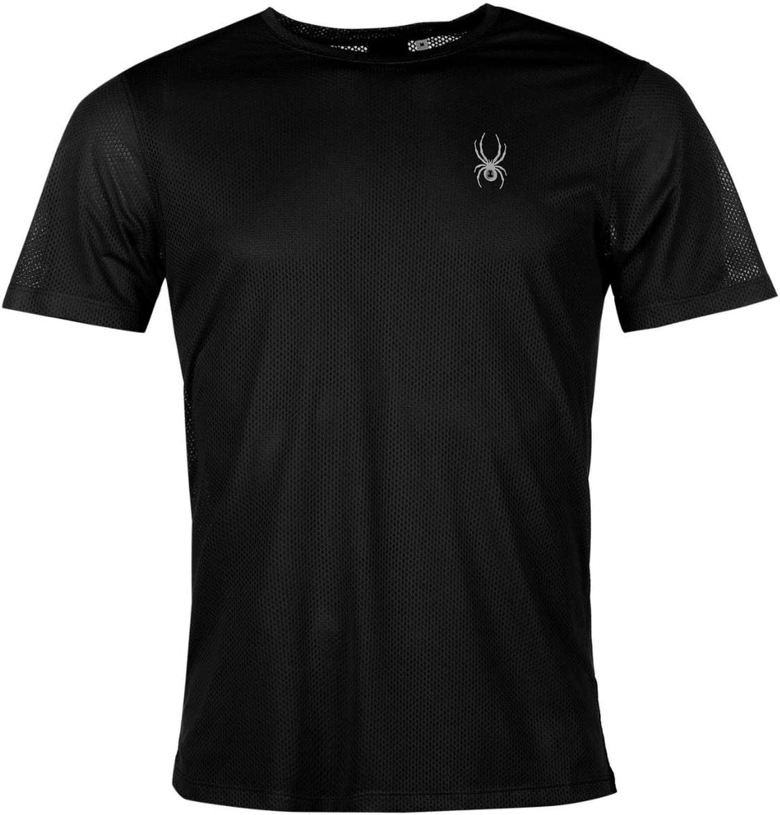 Spyder Alpine Men's T-Shirt Black/Silver All Sizes New with Label ...