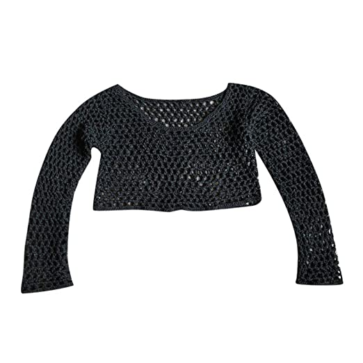3edce367b90 Womens Crochet Fishnet Mesh Swimwear Summer Beach Dress Sheer Bikini Cover  Up Black