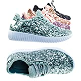 Link Baby Toddlers Girl Lace up Rock Glitter Fashion Sneaker