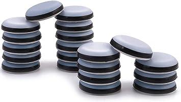 Adhesive Furniture Glides set of 16 x 30mm Teflon Glides//Sliders