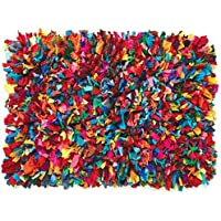 HF by LT Cotton Fiesta Shag Rug, 24 x 36, Multi-Colored