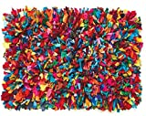 bright colored area rugs - HF by LT Cotton Fiesta Shag Rug, 4' x 6', Multi-Colored