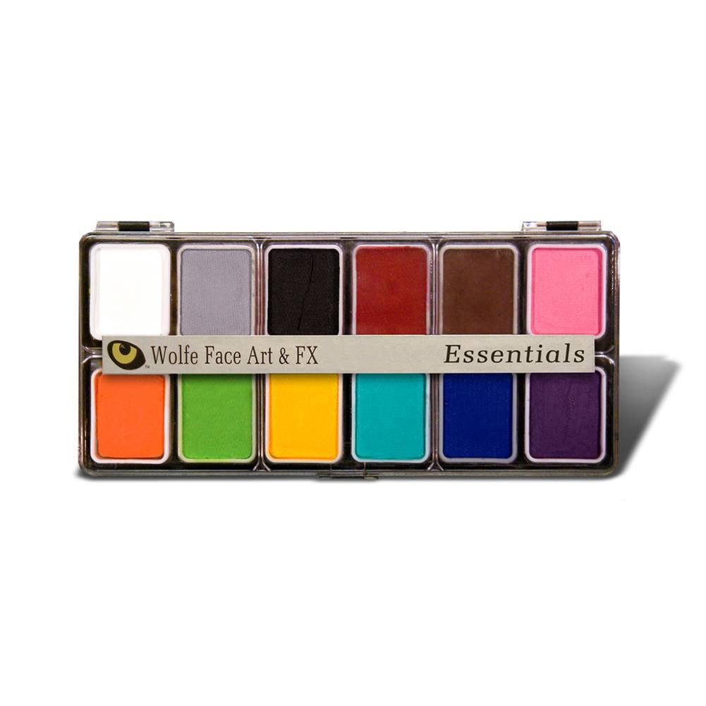 Wolfe FX Hydrocolor 12 color Palatte - Face Paint Kit Essentials