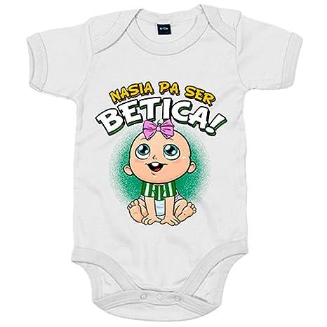 Body bebé nacida para ser Bética Betis fútbol - Blanco, 6-12 meses
