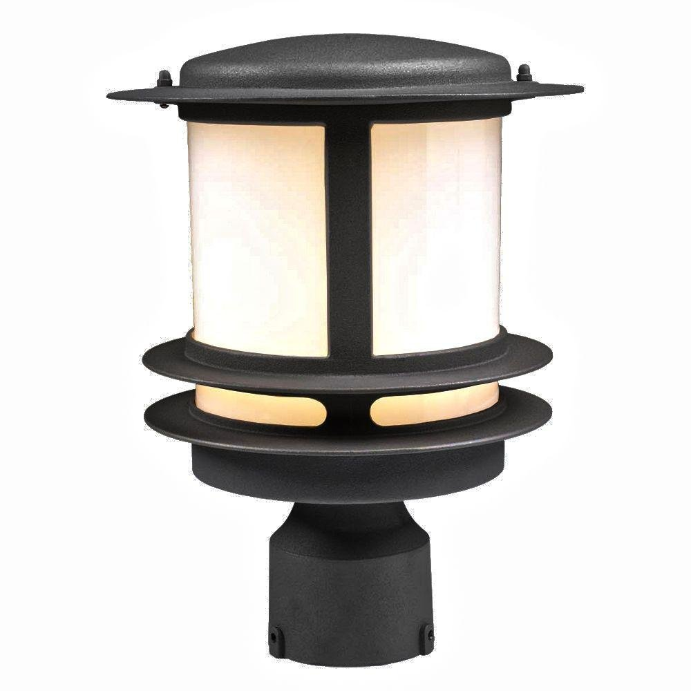PLC Lighting 1896 BK Exterior Post Light, Tusk Collection, Black finish