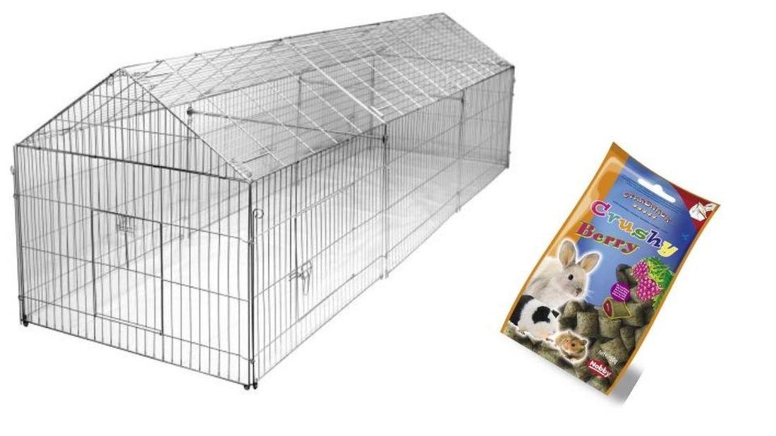 Freigehege 440 x 103 x 103 cm Freilaufgehege Kaninchengehege Hasengehege Nagerfreilauf Nagergehege Welpenfreilauf Welpengehege Welpenlaufstall Freilaufgehege Hühnergehege Hühnerstall