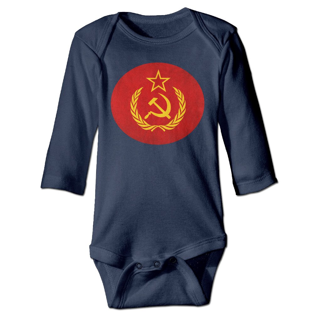 CreativeBB Baby Boys Girl's Bodysuits Soviet Union USSR Long Sleeve