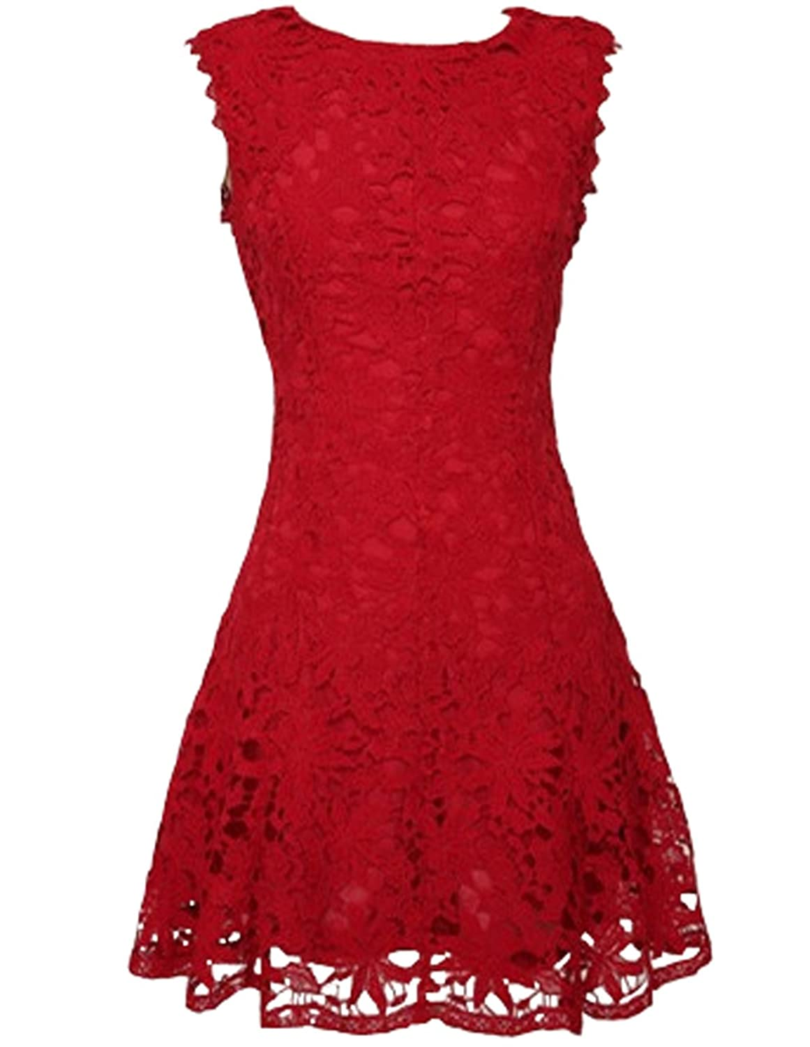 Great Bright Women's A-Line Sleeveless Dress red red 10