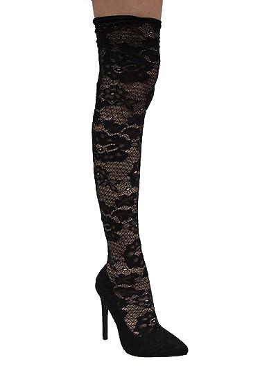 The abstract white black stockings stilettos