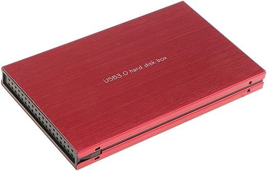 2.5インチSATA SSD HDD エンクロージャスタイリッシュ アルミハウジング HDDケース - 赤
