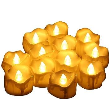 ORIA LED キャンドルライト LEDキャンドル ろうそく 揺らぐ炎 溶けたタイプ リアル感 火を