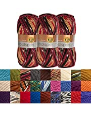 Lion Brand (3 Pack) Woolspun Acrylic & Wool Soft Yarn for Knitting Crocheting Bulky #5