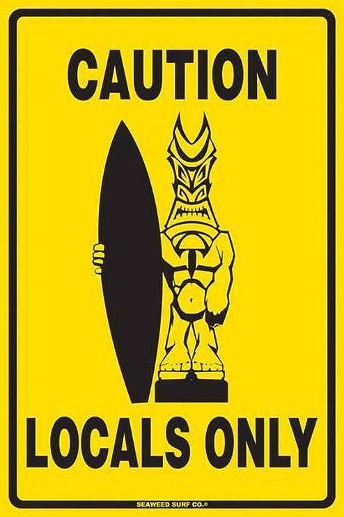 BORJOR Caution Locals Only Beer Decoration -Cartel de Pared ...