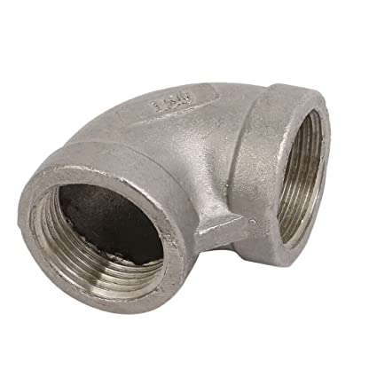 Aexit Conector de conexión de codo en ángulo recto de acero ...