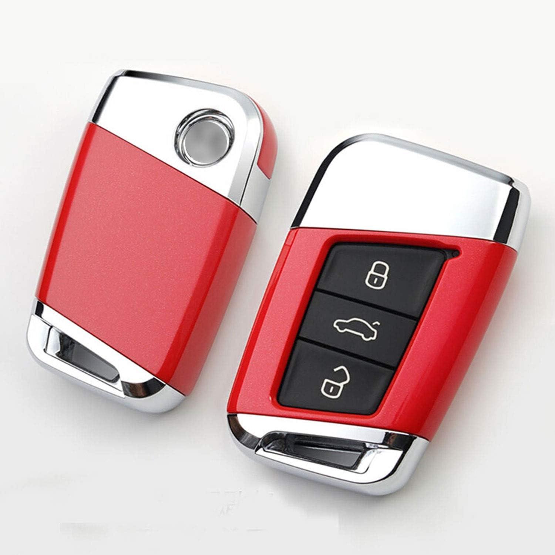 Funda para Llave de Coche Compatible con Volkswagen 19 Magotan Passat CC B8 Variant VW Smart Remote ABS Kwaks