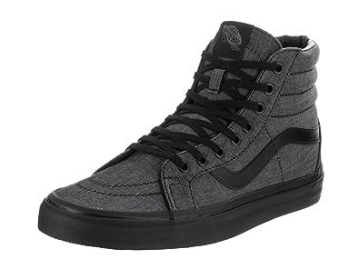 Chaussure Vans SK8-Hi Reissue Mono Chambray-Noir-Noir 2oxdX0Dn