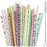 【35 Packs】Reusable Plastic Straws,MCIRCO Multi-colored 9 Inch Thick Drinking Straws for 30 oz & 20 oz Yeti, RTIC, Mason Jar, Starbucks, OZARK Tumblers with Cleaning Brush