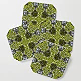 Society6 Drink Coasters, Looking into a kaleidoscope of nature's windows by hereswendy, set of 4