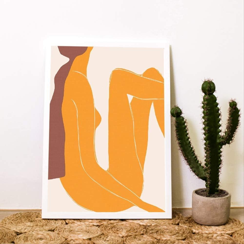 LWJPD Cuadro en Lienzo Impresiones De Figuras De Mujer Cartel De Arte Abstracto Galería Moderna Arte De Pared Pintura De Lienzo Cuadro De Pared para Sala De Estar Decoración del Hogar 30×40Cm