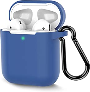 Coffea Protective Silicone Case with Keychain for Apple AirPods 2 (RoyalBlue)