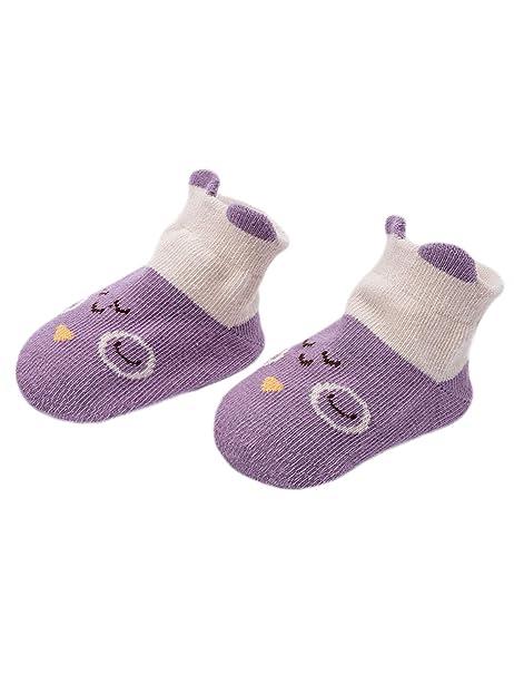 Adorel Calcetines Antideslizantes para Bebé paquete de 6 Multicolor 2-4 Años (M): Amazon.es: Ropa y accesorios