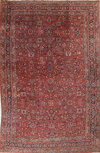 (Palace Size Antique Red Bidjar Handmade Wool Persian Oriental Area Rug (18' 4'' X 11' 6''))
