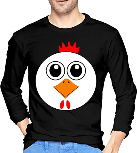 Mark Star Funny Chicken Men Boy Camiseta de Manga Larga Camiseta O ...