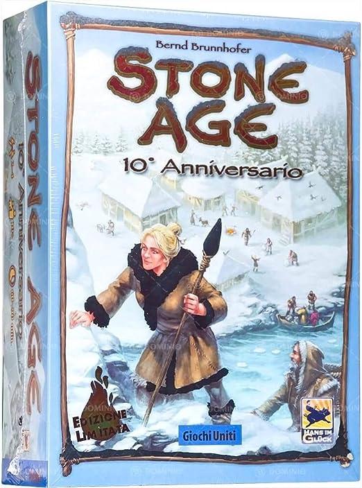 Juegos Unidos Stone Age 10 Aniversario Juego de Mesa, Multicolor, gu640: Amazon.es: Juguetes y juegos
