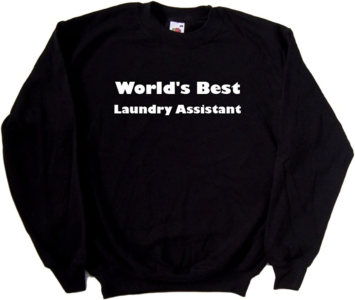 Worlds Best Laundry Assistant Black Sweatshirt