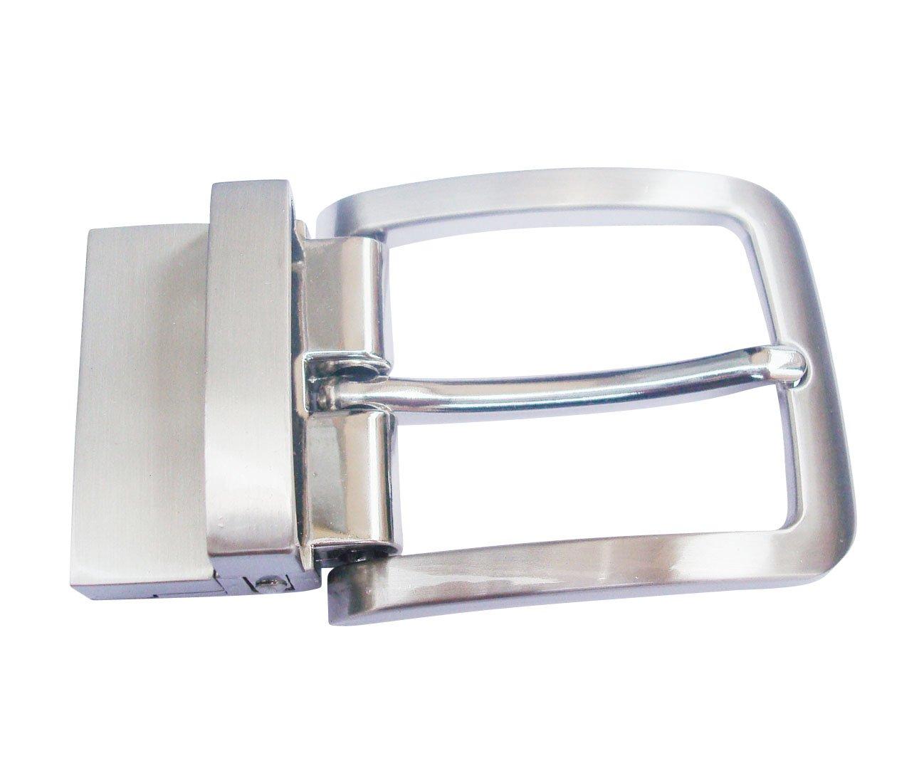 brush matt pearl Mens Solid Buckle Automatic Ratchet Leather Belt Buckle Head