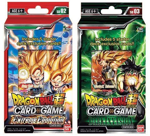 Dragon Ball Super Cross Worlds Starter Decks: Extreme Evolution and Dark Invasion ()