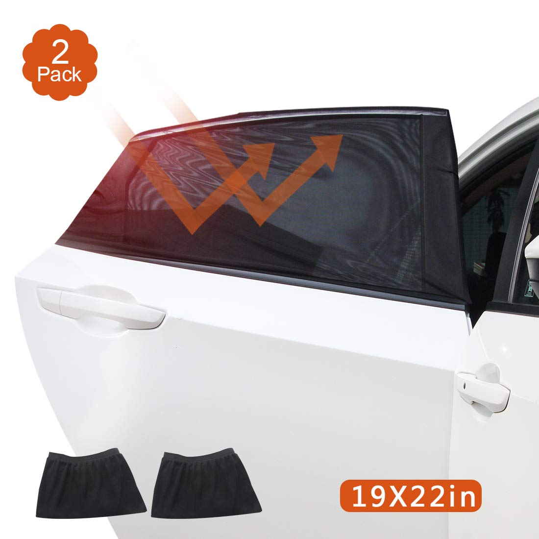Car Sun Shade Car Window Sun Shade Pack of 2 Self-Adhesive Sun Visors for Side Windows Baby Car Rear Window Sun Visors with UV Protection//Anti-Glare Protection Suitable for Cars and SUVs