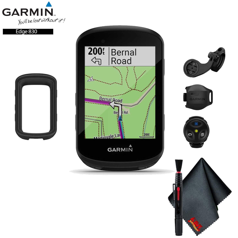 Garmin Edge 830 GPS Cycling Computer (Mountain Bike Bundle) Base Accessory Kit by Garmin