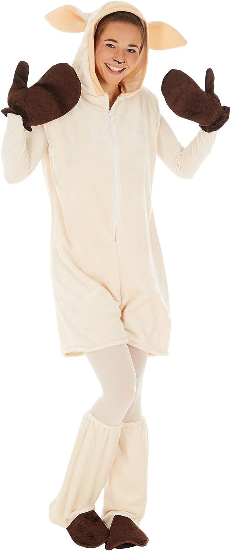 TecTake dressforfun Disfraz de Oveja para Hombre Mujer | Precioso Disfraz Unisex | Incl. Guantes, Calentadores y Medias de Cuerpo Entero (M | No. 300857)