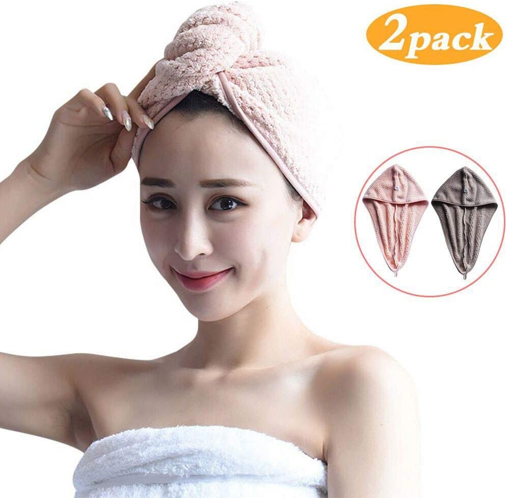 Absorbent Towel Quick-drying Bath Towel Hair Dry Cap Rapid Drying Hair Towel New