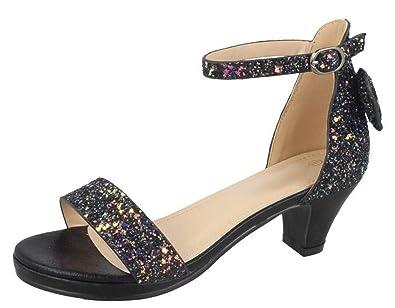 39d4b8ee52b93 Lora Dora Girls Low Block Heel Party Shoes Sandals