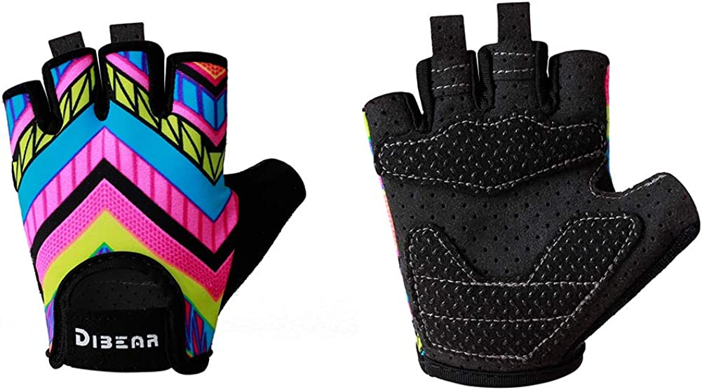 DIBEAR Cycling Gloves of Girls and Boys,Roller,Skating,Balance Cars and Outdoor Sports,Anti-Slip Silicone Can Fully Protect The Baby's Palm,Suitable for Boys and Girls 2-6 Years Old