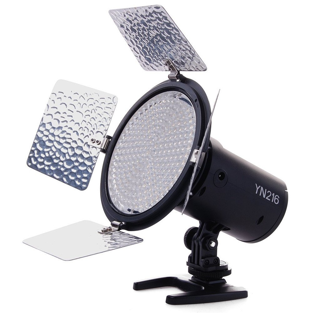 YONGNUO YN216 YN-216 LED Video Camera Light with 5500K Color Temperature and 4 Color Plates for Canon Nikon DSLR Cameras by YONGNUO