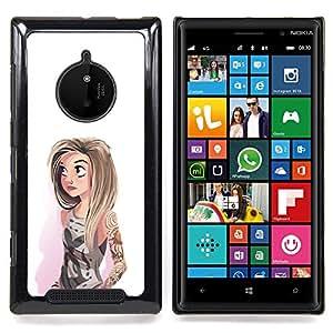 Eason Shop / Premium SLIM PC / Aliminium Casa Carcasa Funda Case Bandera Cover - Hipster Blanco Moda - For Nokia Lumia 830