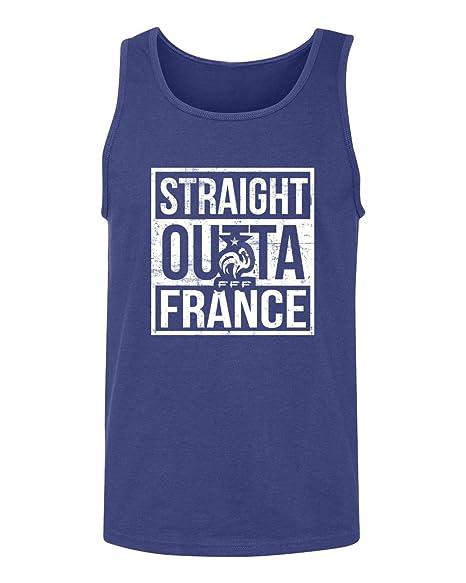 f1bb2dd509587a Tcamp New 2018 World Soccer Championship Straight Outta France Pride Men s  Tank Top (Royal