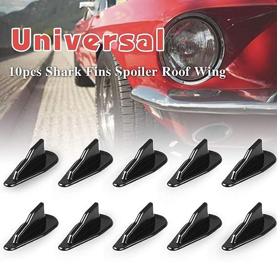 10pc Universal Gen 2 Shark Fin Diffuser Vortex Generator ABS Car Auto Truck SUV