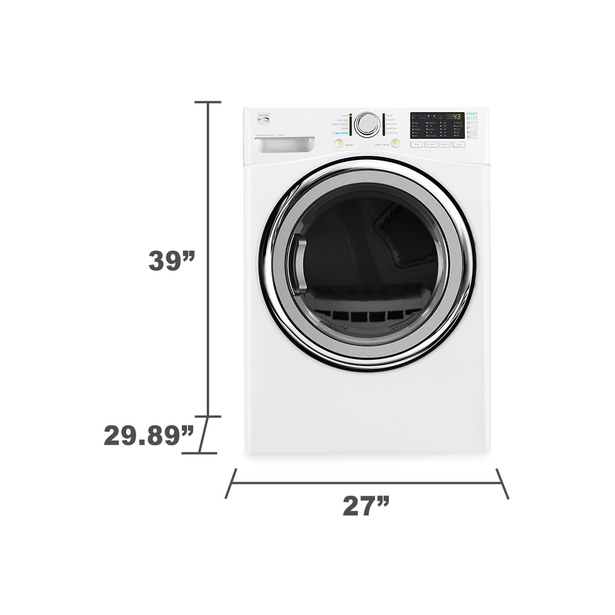 Amazon.com: Kenmore 81382 7.4 cu. ft. Electric Dryer with Steam in White,  includes delivery and hookup: Appliances