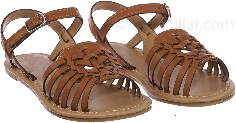 Girl Children Festive Cinco De Mayo Shoes Kids Woven Fisherman Huarache Flat Sandal
