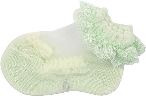 Slowera Baby Girls 5 Pairs of Ruffles Princess Socks