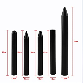 Qiilu QL00647 5pcs Professionale Nylon Tap Down Pen Paintless Grandine Removal Dent Repair Tools Black
