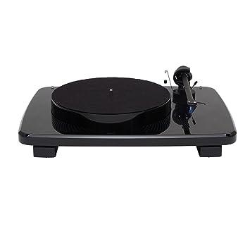 Amazon.com: Music salón ikura Tocadiscos Negro con ORTOFON 2 ...