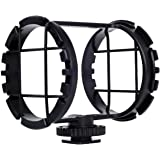 """BOYA BY-C03 Camera Shoe Shockmount for Shotgun Microphones 1"""" to 2"""" in Diameter (Fits the Zoom H1)"""