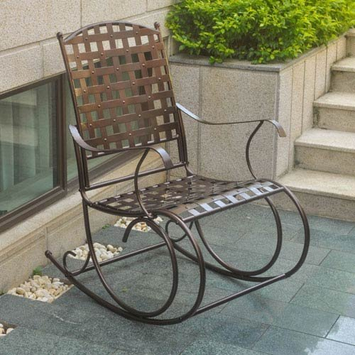 International Caravan Santa Fe Patio Metal Rocker in Bronze